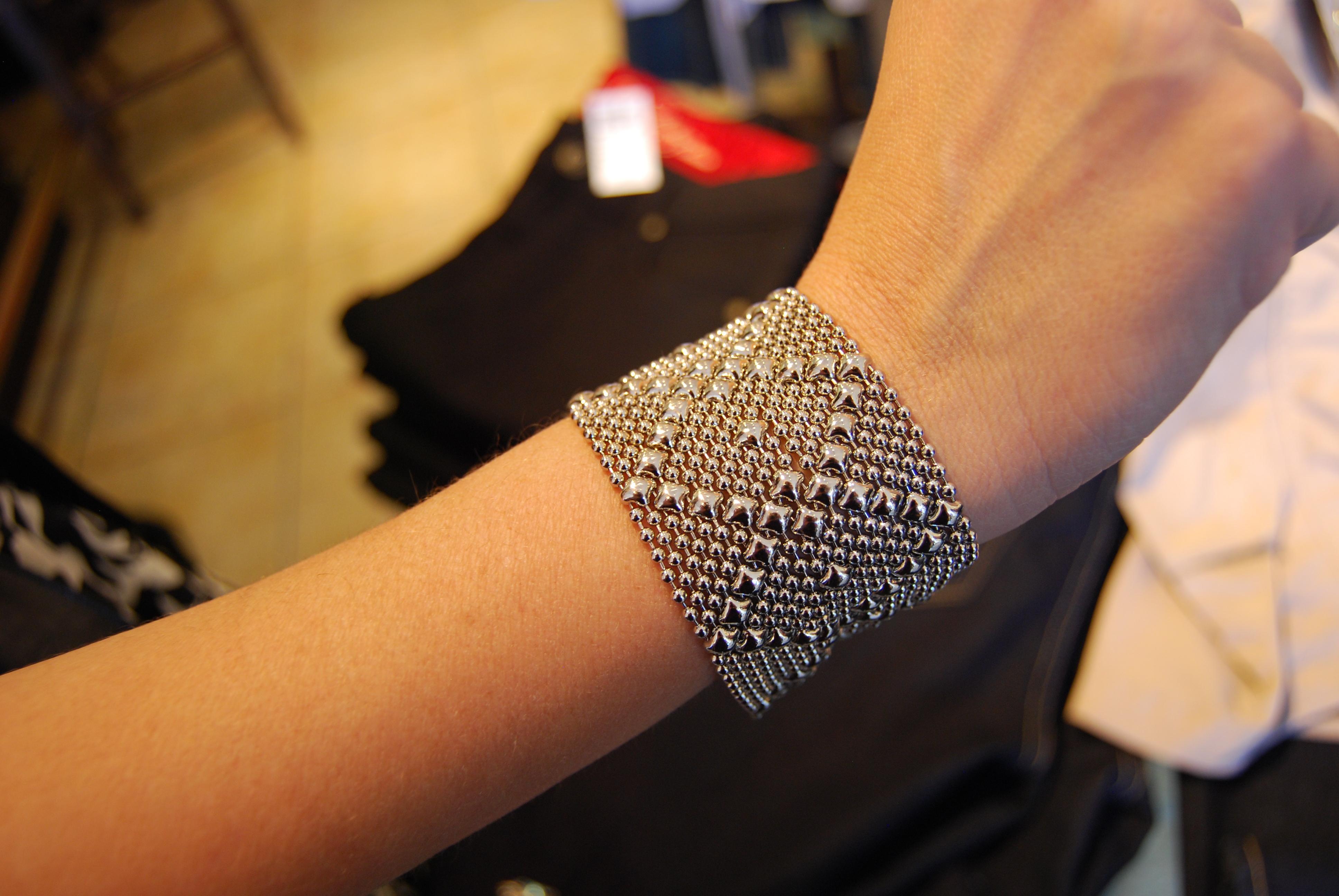 This Criss Cross Nickel Bracelet By Liquid Metal