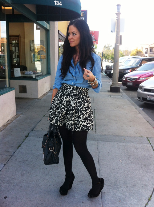 Glam latte_Outfit_Floral Skirt