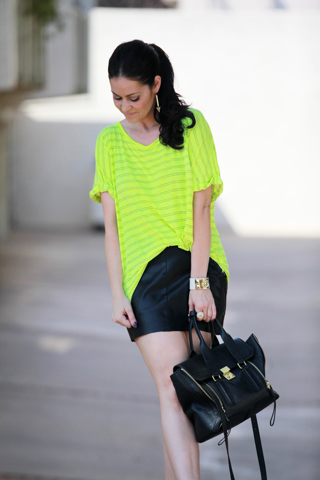 Glam Latte_Outfits_Neon and Leather