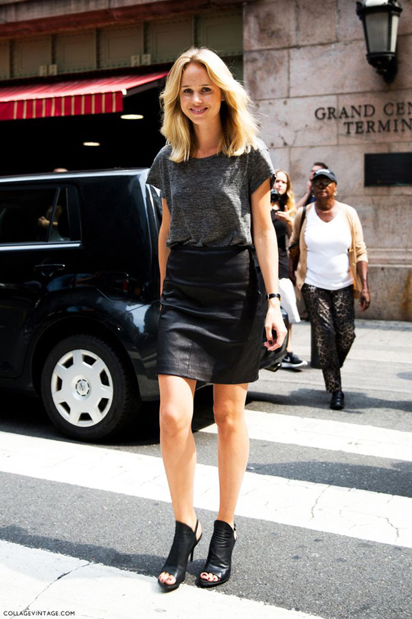 Fashion Obsession // Leather Skirts - Glam Latte