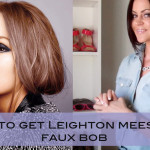How To Get Leighton Meester's Faux Bob