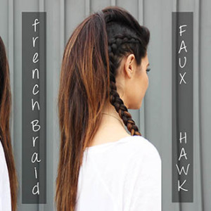 Faux hawk braid Tutorial
