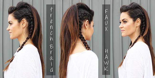 Faux hawk braid Tutorial
