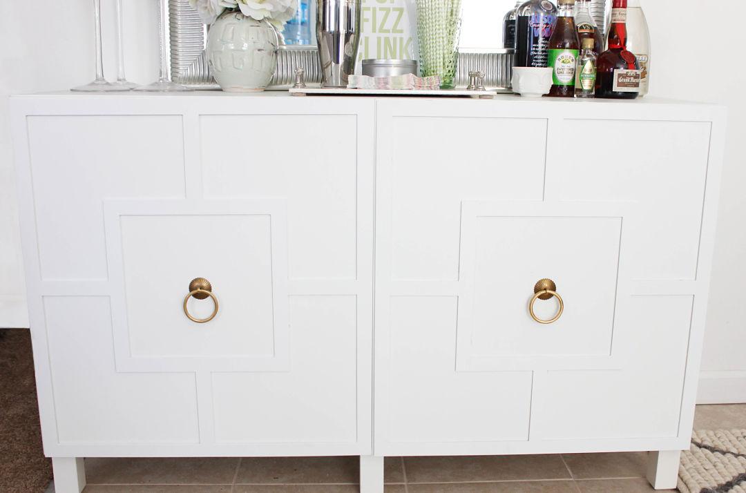 Diy Ikea Hack Besta Cabinet Two Ways