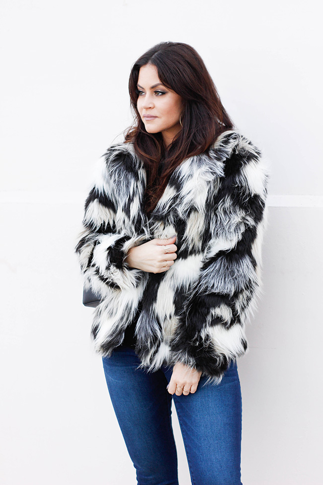 Fur Coat and Denim