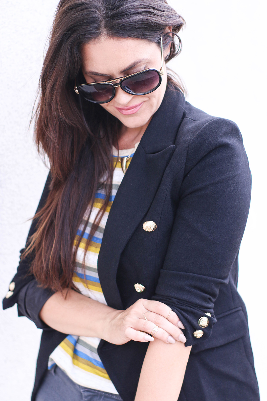 fall navy blazer